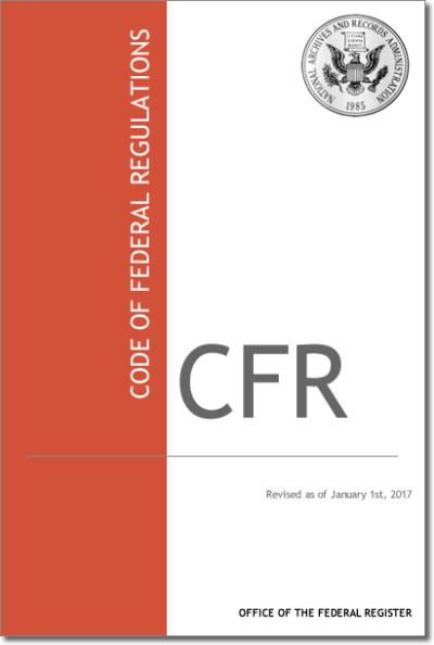 2017 Code of Federal Regulations