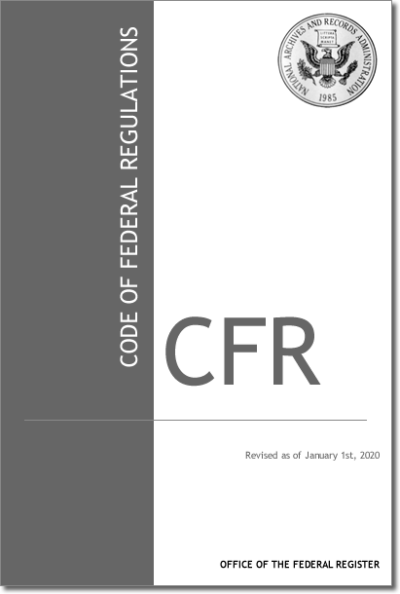 21 CFR (Pages 1-99.) (2020)